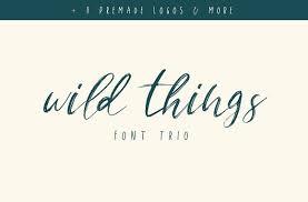 wild things font trio extras by sinikka li on creativemarket