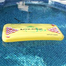 Pool Beer Pong Table by Pong H2o Inflatable Beer Pong Table Yellow Floating Pool Party