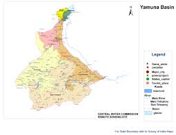 India River Map by Yamuna River System