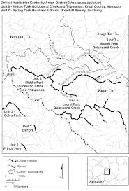 Ky County Map Federal Register Endangered And Threatened Wildlife And Plants