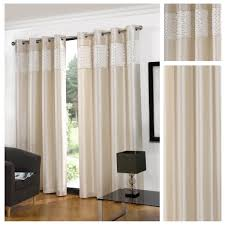 Lined Curtains Glitz Faux Silk Cream Eyelet Lined Curtains By Hamilton Mcbride