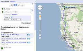 Amtrak Stations Map by Coast Starlight On Google Transit U2013 Railpac