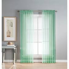 window elements sheer diamond sheer 56 in w x 84 in l rod pocket