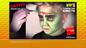 frankenstein halloween face painting make up tutorials for