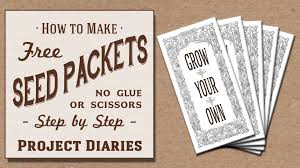 seed packets bulk how to make free seed packets no scissors or glue needed