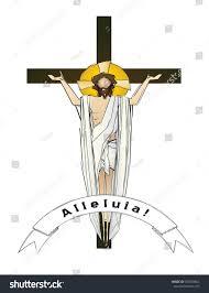easter resurrection jesus christ risen lord stock vector 555030862