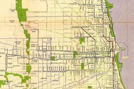 Downtown Chicago Map by Sweet Vintage Map Shows Chicago Rapid Transit Lines In 1946
