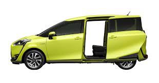 auto con porte scorrevoli toyota ibridizza anche l mpv ecco la sienta ibrida hybrid