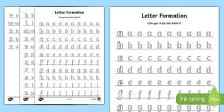 letter formation early years eyfs handwriting page 1
