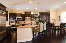 Kitchen Colors With Oak Cabinets And Black Countertops by 34 Kitchens With Dark Wood Floors Pictures