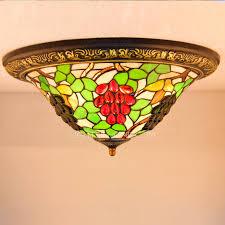 Unique Ceiling Lighting Unique Stained Glass Grape Style Ceiling Light Fixtures