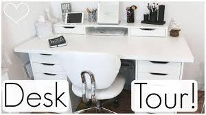 ikea alex desk drawer desk tour ft ikea alex drawers allisa rose youtube
