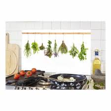 anti eclaboussure cuisine lot de 4 anti éclaboussures herbes