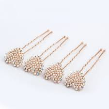 pearl hair pins 4pcs lovely charm wedding bridal party heart shaped pearl hair