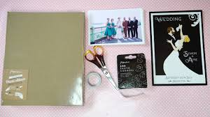 diy wedding album guest book
