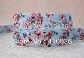 elastic ribbon wholesale q n ribbon wholesale oem 5 8inch 1122008 floral printed folded