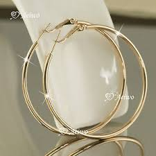 gold hoop earings 18k gf 18ct yellow gold filled hoop earrings 35mm 50mm 60mm 70mm