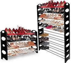 shoe rack walk in closet home design ideas