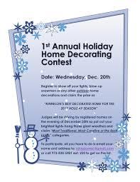 kinnelon borough nj 1st annual holiday home decorating contest