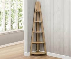 Corner Bookcase Birlea Furniture Nordic Nordic Oak Finish Corner Bookcase
