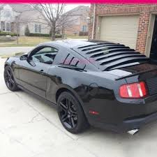 2014 Black Mustang Fit For 05 14 Ford Mustang V6 Black Side Quarter Window Louver