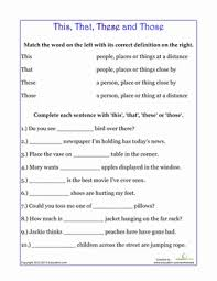 demonstrative pronouns worksheet education com