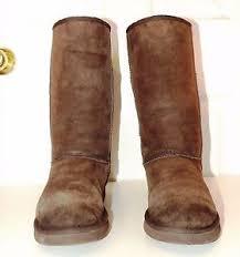 s ugg australia brown leather boots ugg australia mid caft chestnut brown leather boots