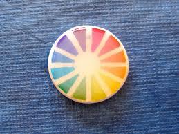 Color Wheel Home Decor Art Paper Scissors Glue Creative Color Wheel For Their Preliminary