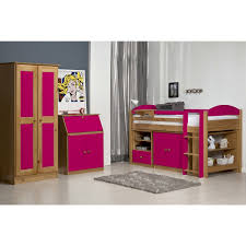 Solid Pine Wardrobes Two Door Solid Pine Wardrobe In Antique U0026 Fuchsia