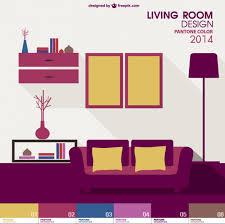 home interior vector living room pantone vector free
