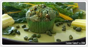 blette cuisine recette sans gluten muffins salés noisette blette spiruline