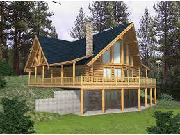 home plans for sloping lots blackhawk ridge log home plan 088d 0037 house plans and more
