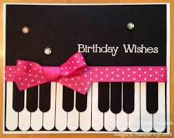 how to make a piano birthday card stamping with karen