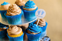 Blauwe Cupcakes Stockfoto U0027s Registreer Gratis