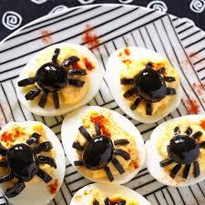 spider deviled eggs nerdy mamma