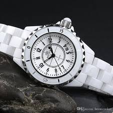 ceramic bracelet watches images Luxury white ceramic watch women waterproof classic wristwatch top jpg