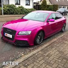 pink audi audi a5 2007 2011 to rs5 front bumper conversion