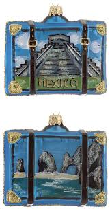 mexico suitcase personalized ornament