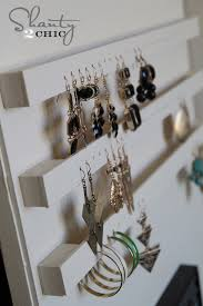how to make an earring holder for studs diy jewelry organizer shanty 2 chic