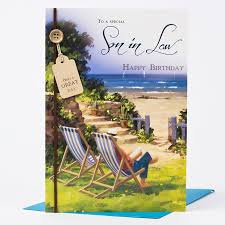 birthday card son in law beach scene only 99p