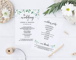 programs for a wedding ceremony wedding programs etsy