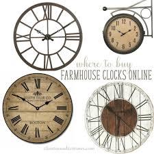 Wall Clock Where To Buy Farmhouse Wall Clocks Christinas Adventures