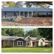 20 home exterior makeover before and after ideas home ranch house remodel with 70 ranch house remodel southern living