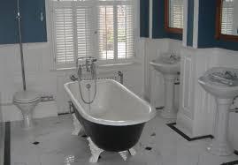 panelled bathroom ideas wall panelling wood panels painted lentine marine 40222