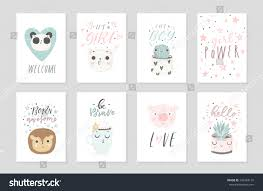baby shower posters collection 8 baby shower posters vector stock vector 746363110