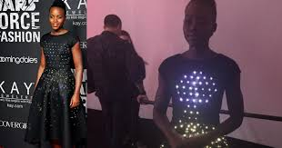 zac posen light up gown lupita nyong o wears led dress to star wars event