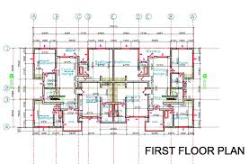 floor plans for flats semi first floor plan1 attached house plan rare plans for detached