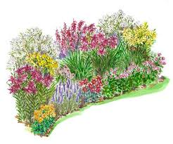 wonderful flower bed design plans 97 in house decorating ideas