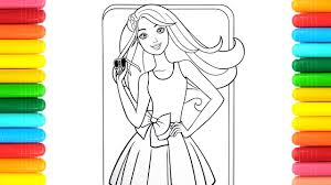 coloring kids color green eyed barbie coloring pages