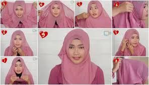 tutorial memakai jilbab paris yang simple tutorial hijab cara mudah menggunakan hijab segi empat paris